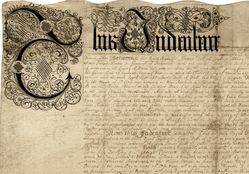 Detail of the Quintipartite Deed of 1676