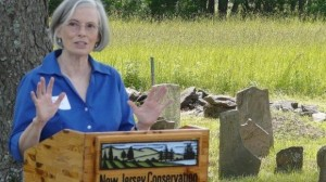 Speaking at the NJCF event on June 5, 2013, next to the Pine Hill Cemetery