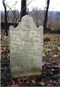 Gravestone of Archibald Buchanan, Sutton Family Cemetery, 1819
