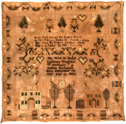 This picture of the sampler is reproduced with the permission of Dan and Marty Campanelli. The photograph is courtesy of Jeffrey S. Evans and Associates, Inc.