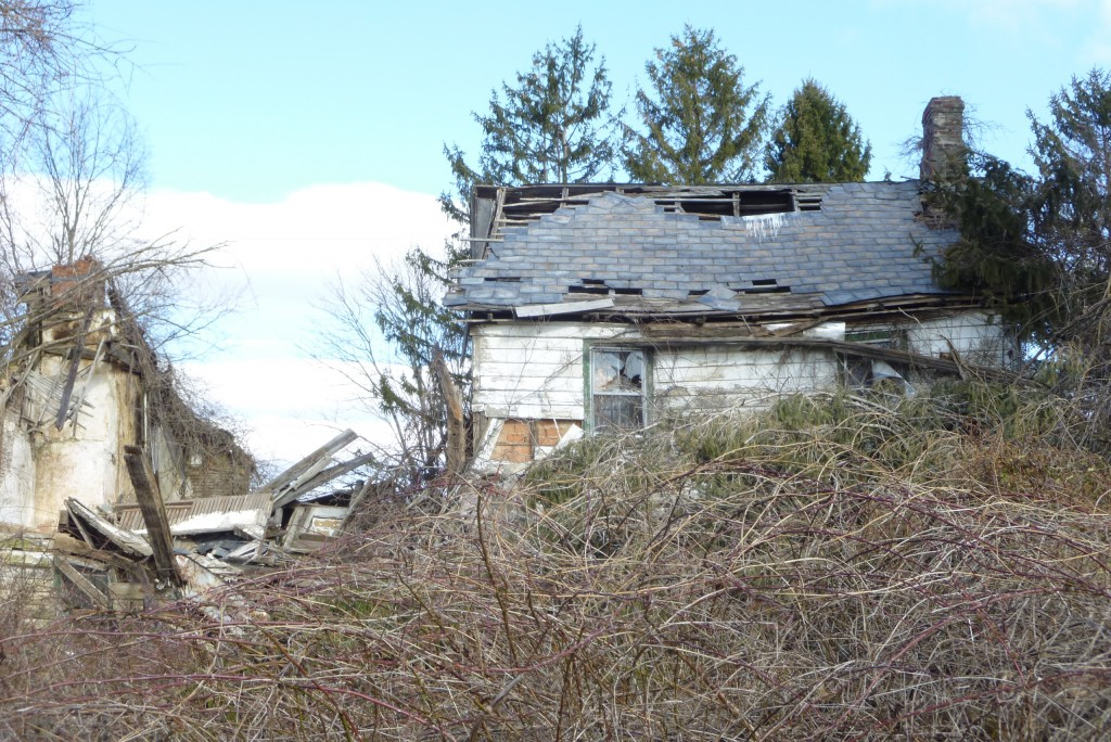 View of the Fulper house from Biser Road, March 2013