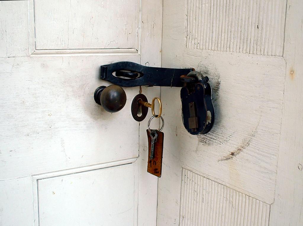 Replica of the original second lock