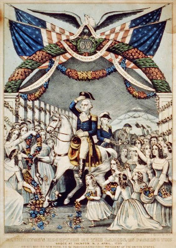 George Washington at Trenton, 1789