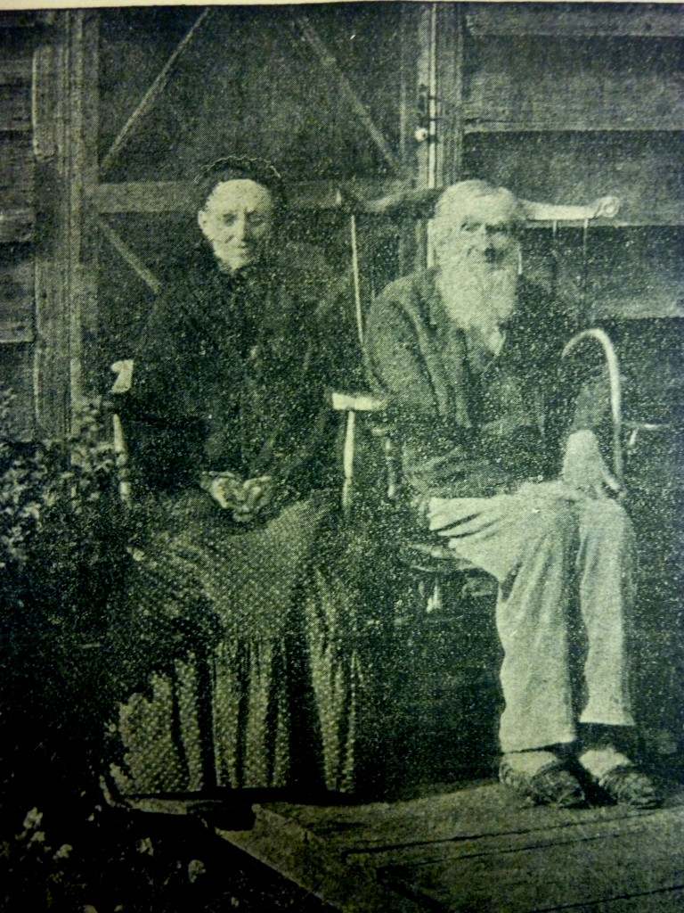 John P. Sergeant and wife Mary Young in 1902, from the Democrat-Advertiser