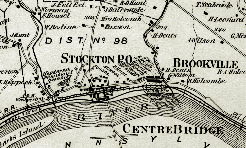 Detail from Beers & Comstock, Atlas of Hunterdon County 1873