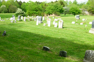 Cemetery, looking east