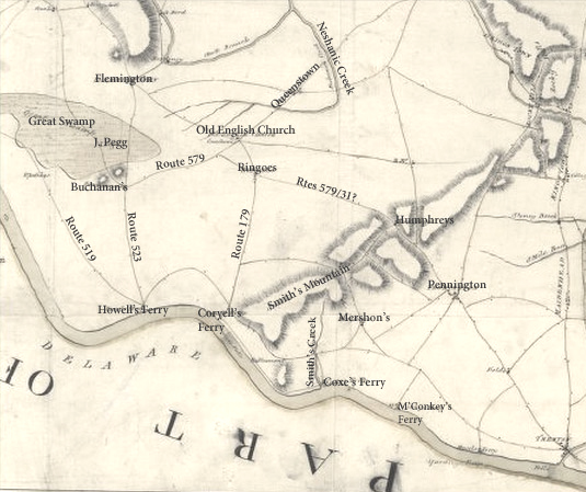 Map by John Hills, 1781 (Library of Congress)