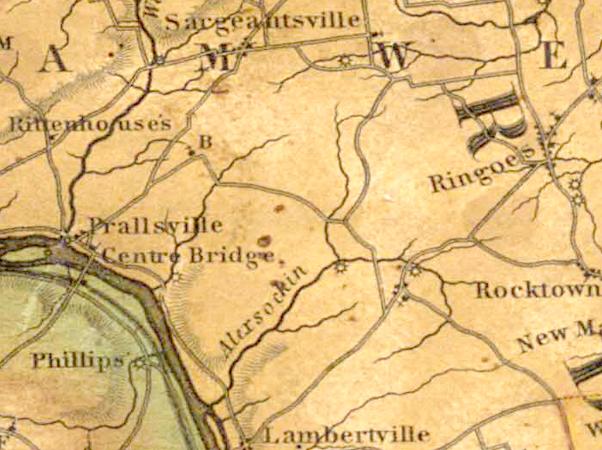 Detail of Thomas Gordon's Map of New Jersey, 1828