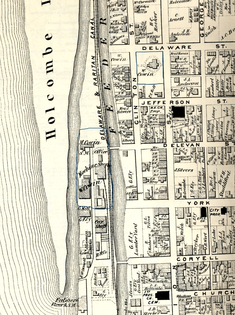 Detail of Beers-Comstock Atlas of 1873 for Lambertville