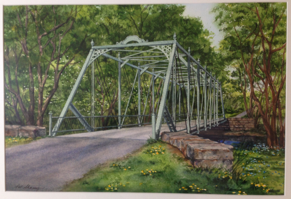 Watercolor of the Raven Rock Road bridge by Pat Shamy