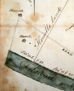 Detail of survey by Nathaniel Saxton in 1801, for James Armstrong