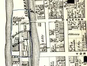 Detail of the Beers-Comstock Atlas of 1873