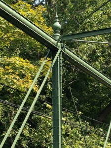 Phoenix columns on the Raven Rock Road bridge, with cast iron finial on top