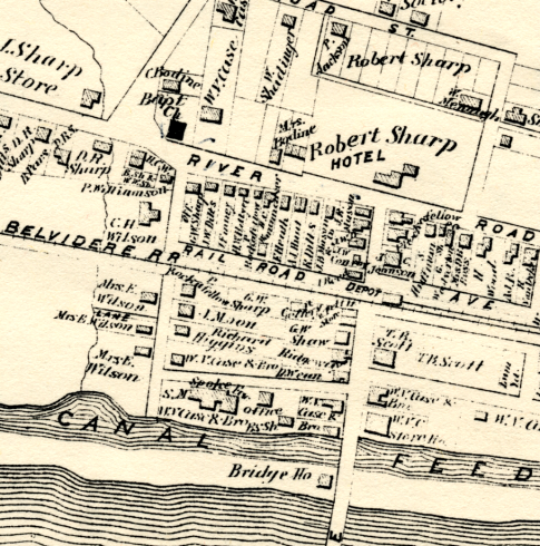 from the Beers Comstock Atlas of 1873, Stockton Village
