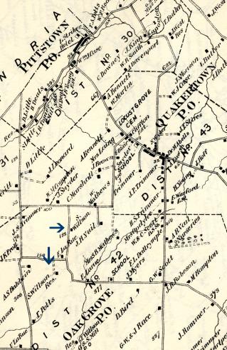 Samuel Wilson's farm, Beers Atlas of 1873