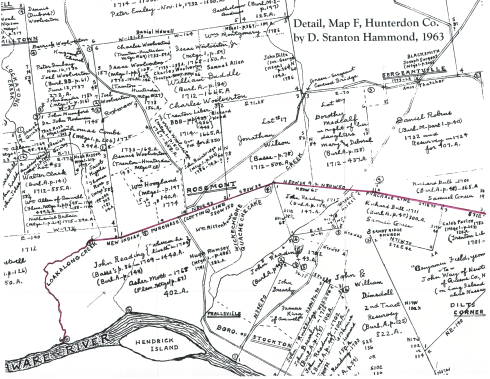 Detail from Hammond's Map F