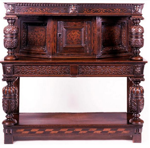 Typical Jacobean bureau