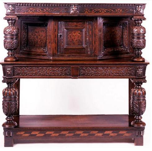 Typical Jacobean bureau