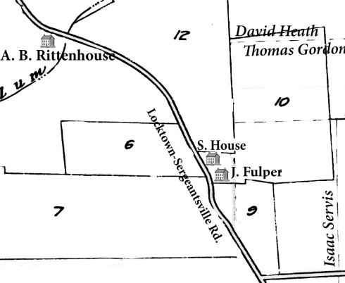 Approximate location of the school house lot and Jerusha Fulper's lot.