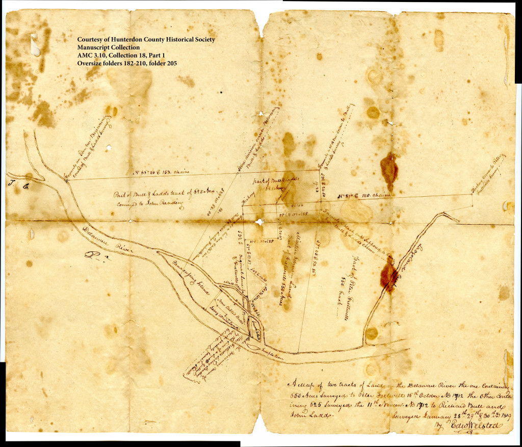 Survey map of Bull's Island and vicinity by Edward Welsted, 1819