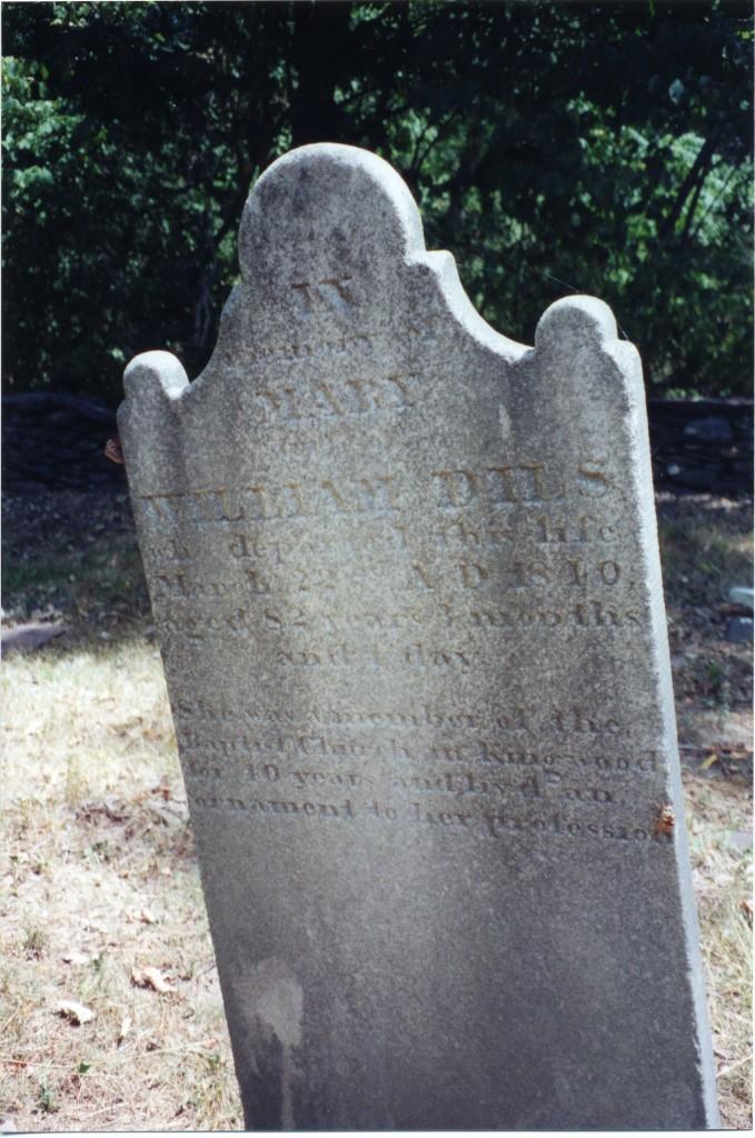 Gravestone of William Dils