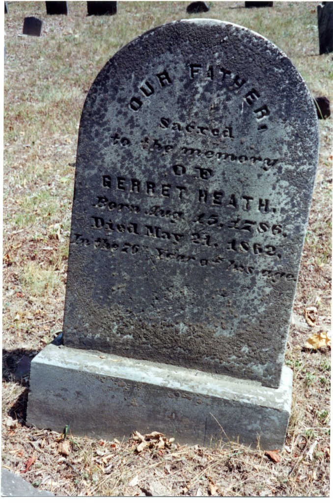 Gravestone of Garret Heath