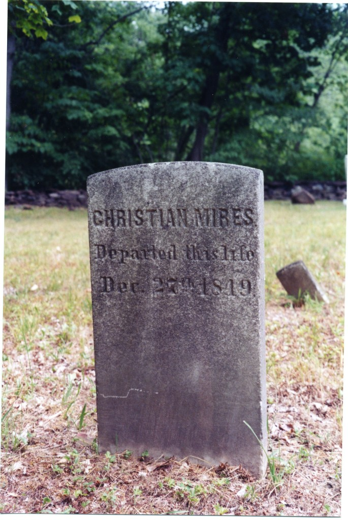Gravestone of Christian Mires
