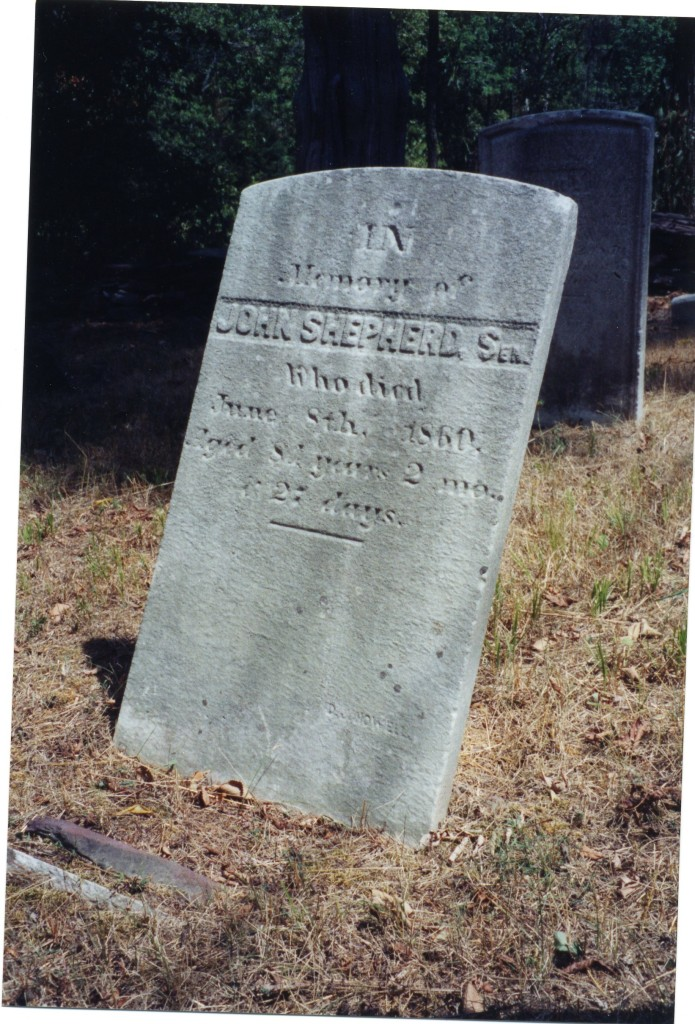 Gravestone of John Shepherd