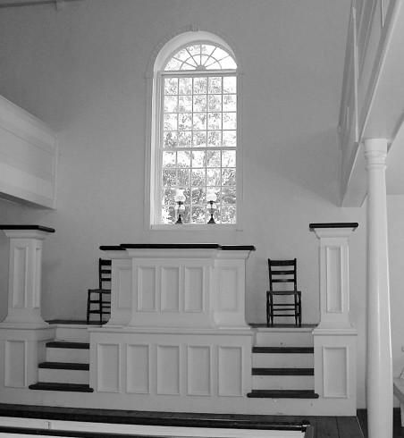 Locktown Baptist Church, after restoration