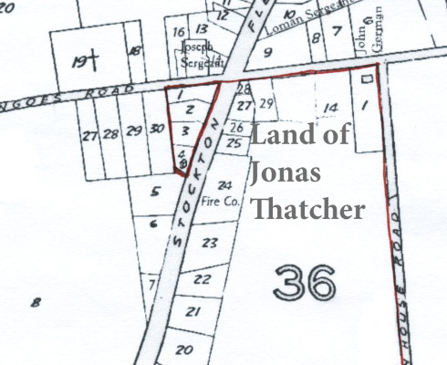 Map of the original store lot