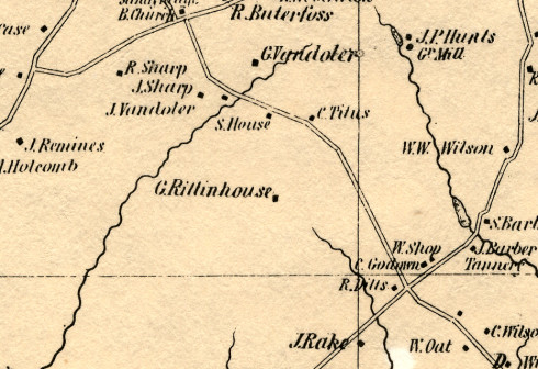 Detail of the Cornell Map of 1851