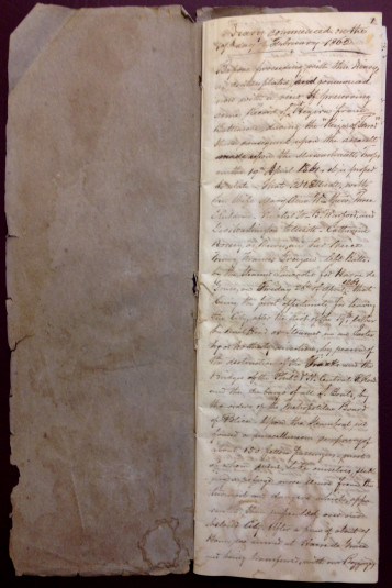 First page of the Ellicott Diary