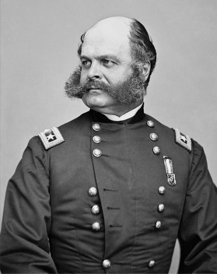 Gen. Ambrose Burnside, by Mathew Brady