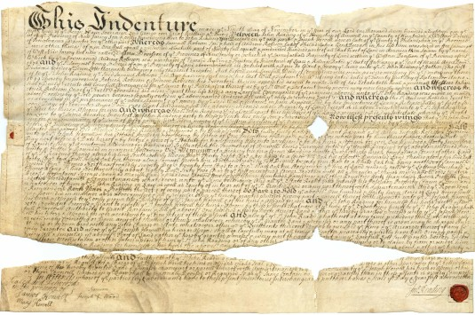 Lease, dated Nov. 8, 1718.