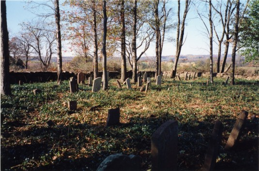 View of the Moore Family Cemetery in Delaware Township