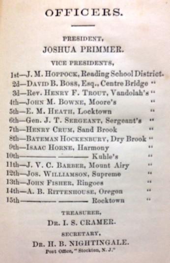 1863 Officers of the Democratic Club of Delaware Township