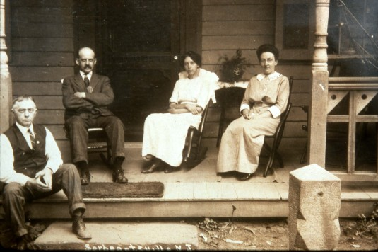 Mr. and Mrs. Wilson and friends, c. 1895