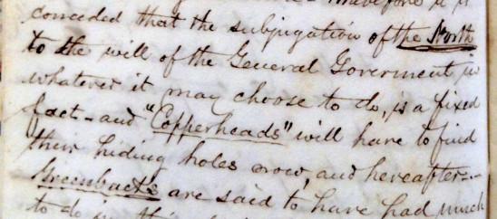 Elllicott's Diary, August 1863