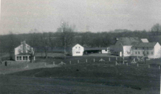 The Archibald Trout farm on Bowne Station Road