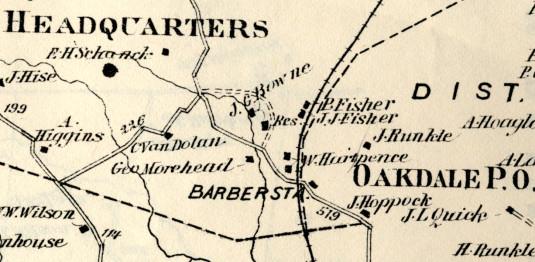 Detail of Beers Atlas, 1873