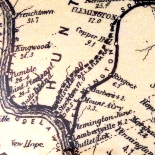 Detail of Map of the Railroads of New Jersey, 1876, by J. A. Anderson