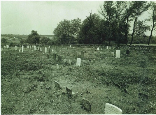Moore Cemetery after 1954 clean-up