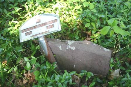 Grave marker for Rev. John Naas