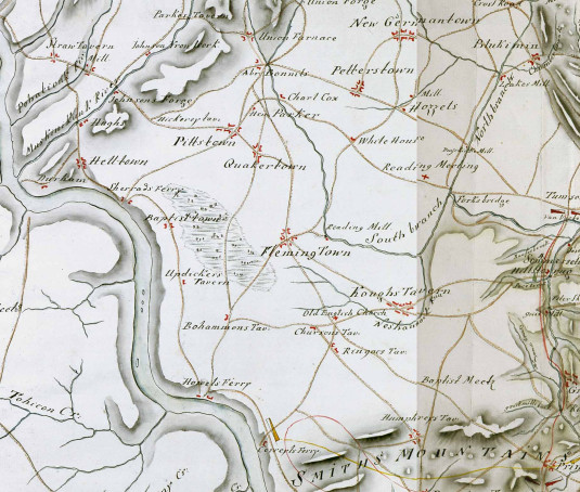 Detail of the Hessian Map of Central New Jersey