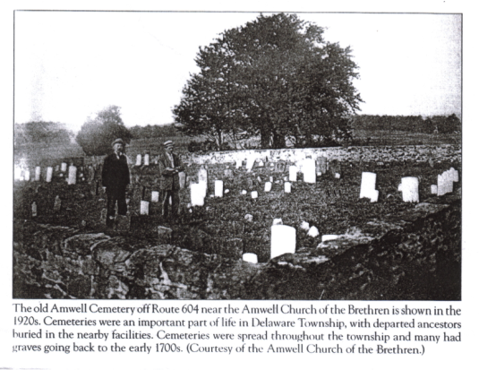 The Moore Cemetery in 1922