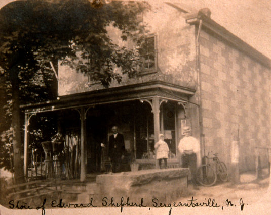 The Sergeantsville Inn, formerly Shepherd's Store, c. 1900