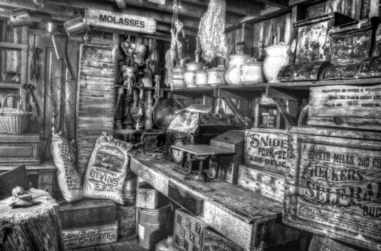 A recreation of an old country store
