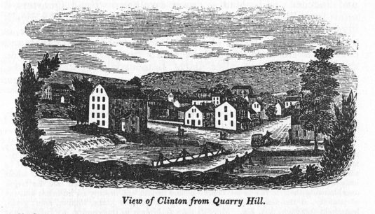 Town of Clinton, from Barber & Howe, 1844