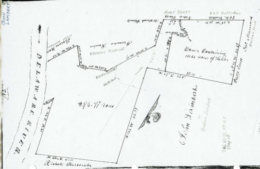 Survey of Lambert farm, Divisions Bk 1 p. 180