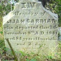 Carman, Elijah gravestone